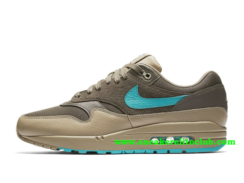 Chaussures Running Homme Nike Air Max 1 Prix Pas Cher Olive Green/Beu Beige-Khaki 875844_200