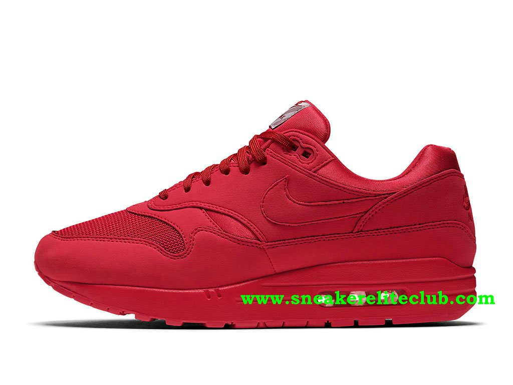Chaussures Running Homme Nike Air Max 1 Prix Pas Cher Rouge 875844_600