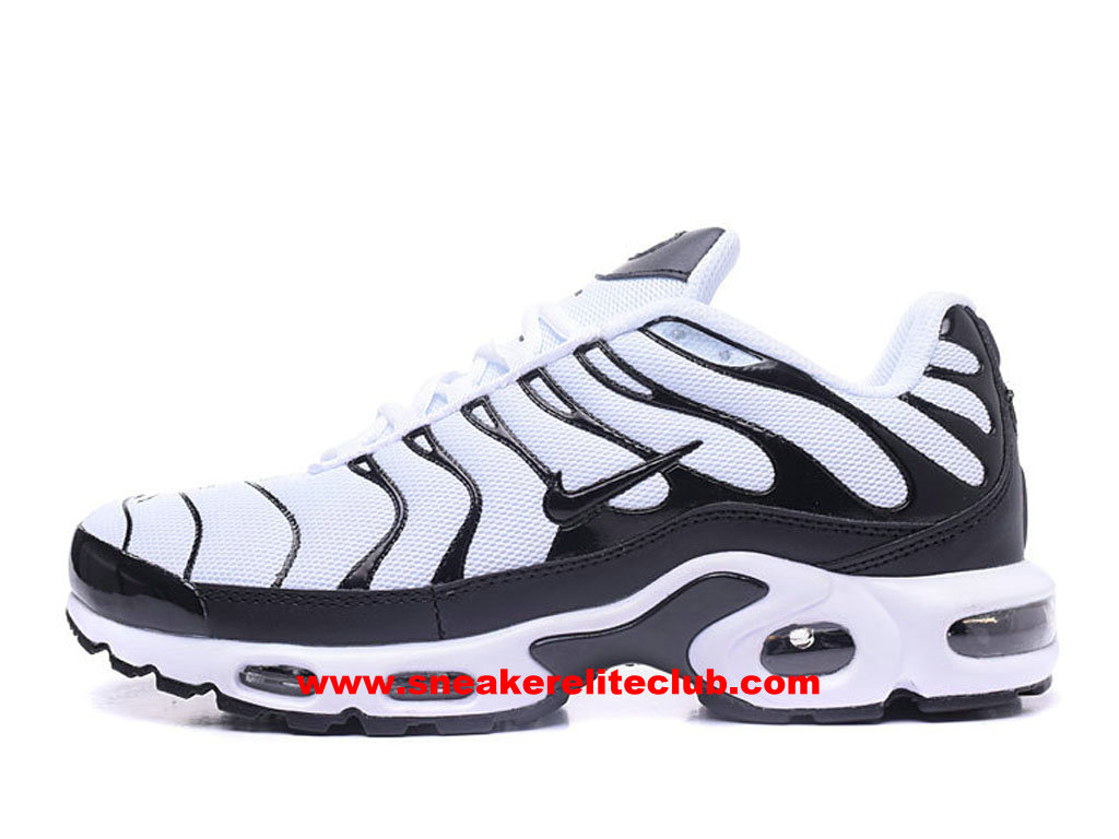 new style 24295 92026 Chaussures Running Homme Nike Air Max Plus TN Prix Pas Cher Blanc Noir ...