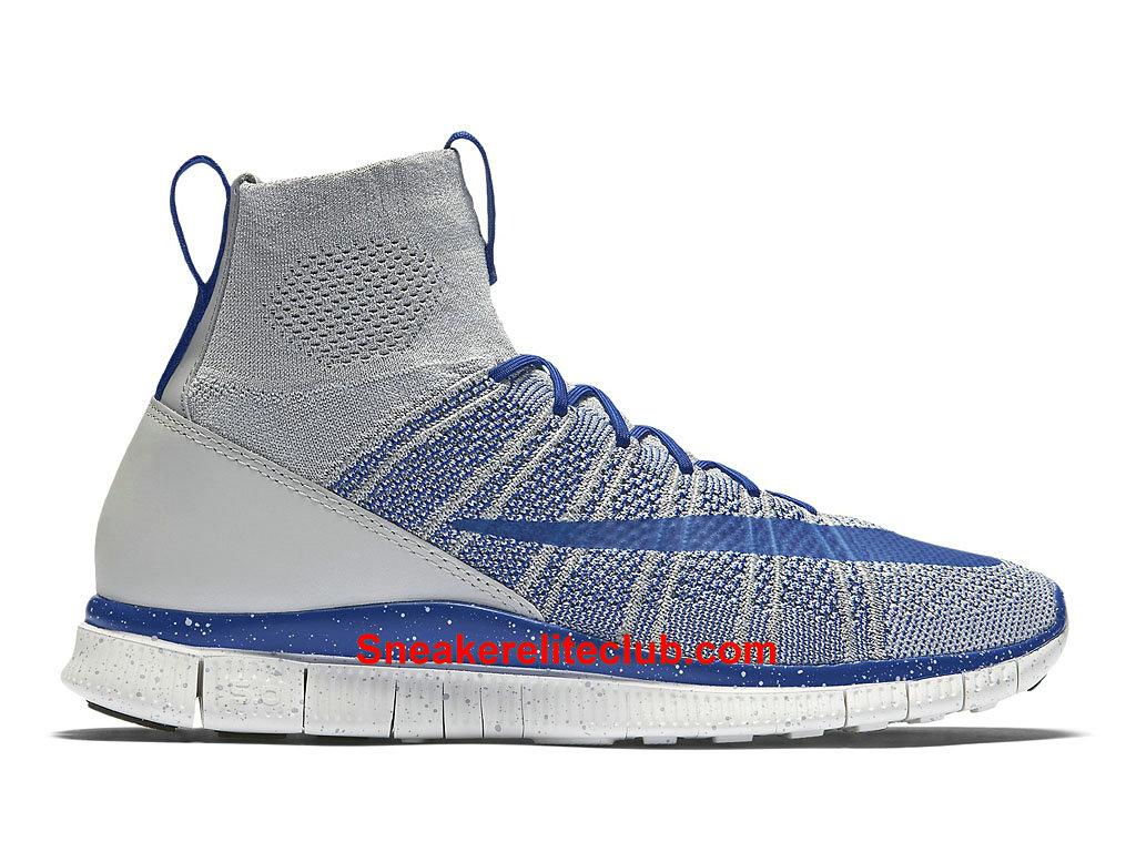 0a09f214eff2 Home → Men´s Club → Nike Free Run → Nike Free Flyknit Mercurial Superfly  Prix Cheap Men´s Running Shoes Blue Grey White 805554 003