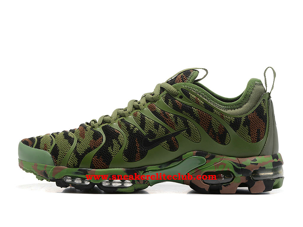 Chaussures Running Nike Air Max Plus TN Femme Pas Cher Prix Olive Green Black
