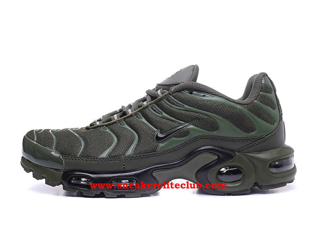 Chaussures Running Nike Air Max Plus TN Femme Pas Cher Prix Olive Green Black 830768_A004