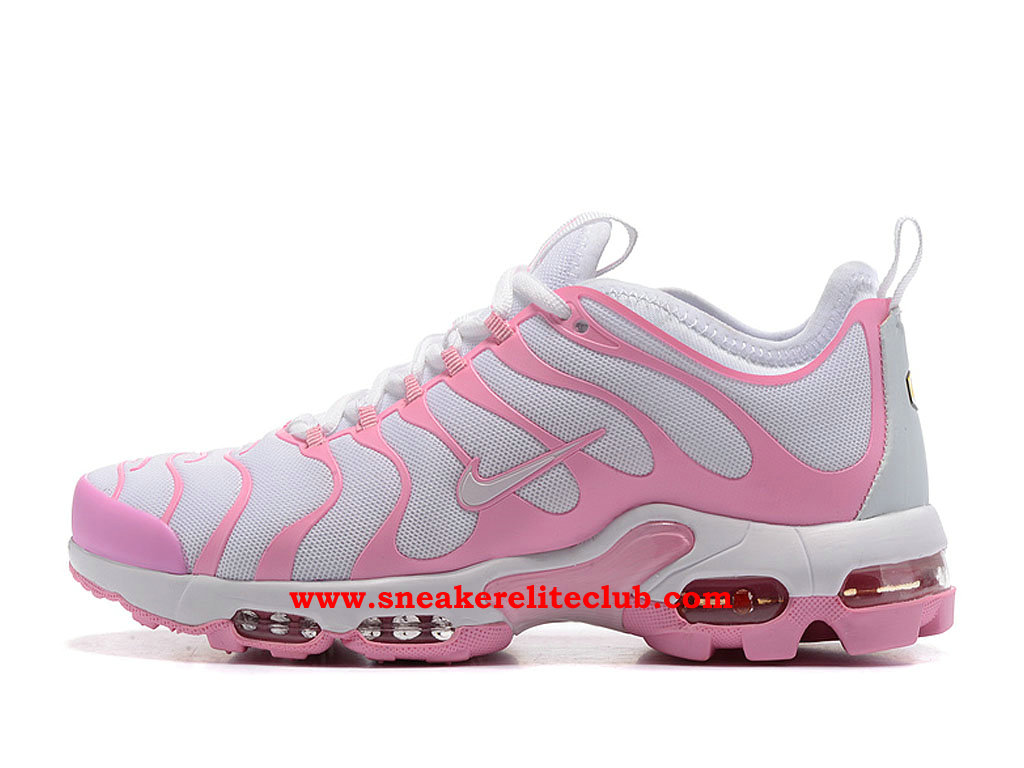 Chaussures Running Nike Air Max Plus TN Ultra Femme Pas Cher Prix Rose/Blanc