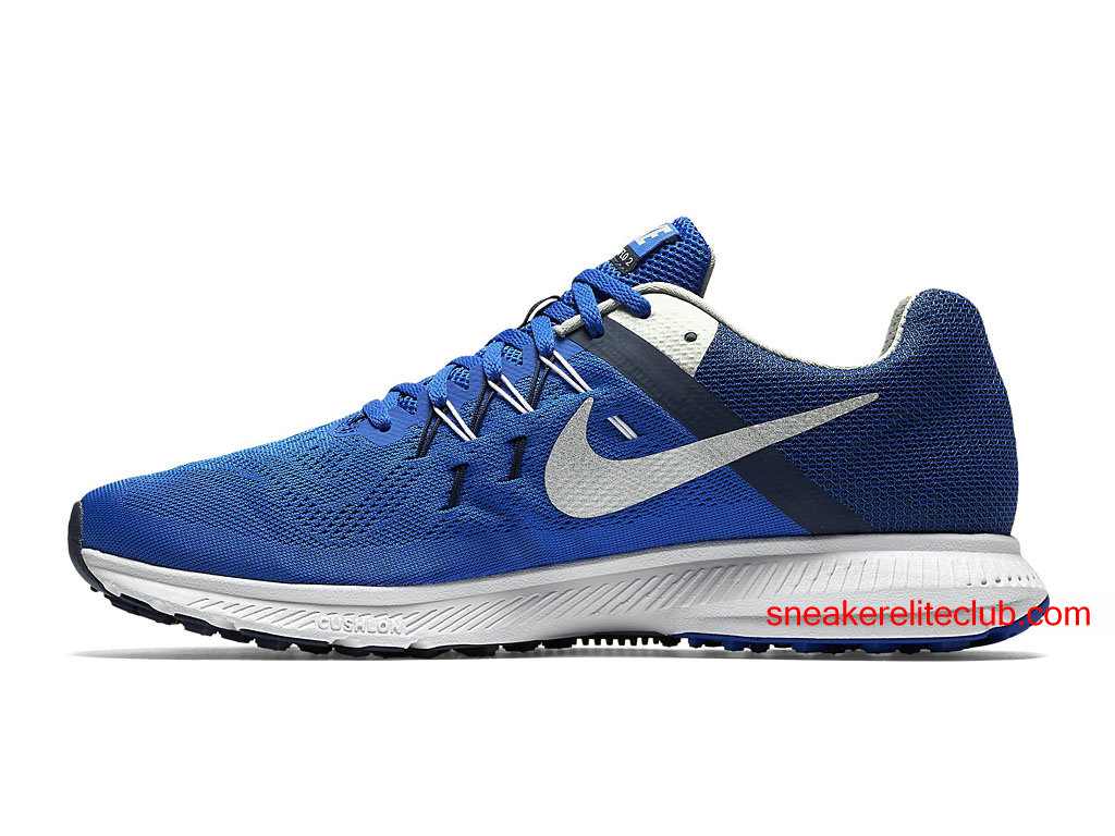 chaussures running nike zoom winflo 2 prix pas cher pour homme bleu blanc 807276 402 chaussure. Black Bedroom Furniture Sets. Home Design Ideas
