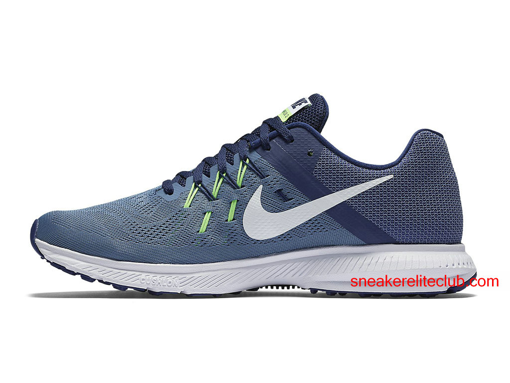 chaussures running nike zoom winflo 2 prix pas cher pour homme gris bleu blanc 807276 403. Black Bedroom Furniture Sets. Home Design Ideas