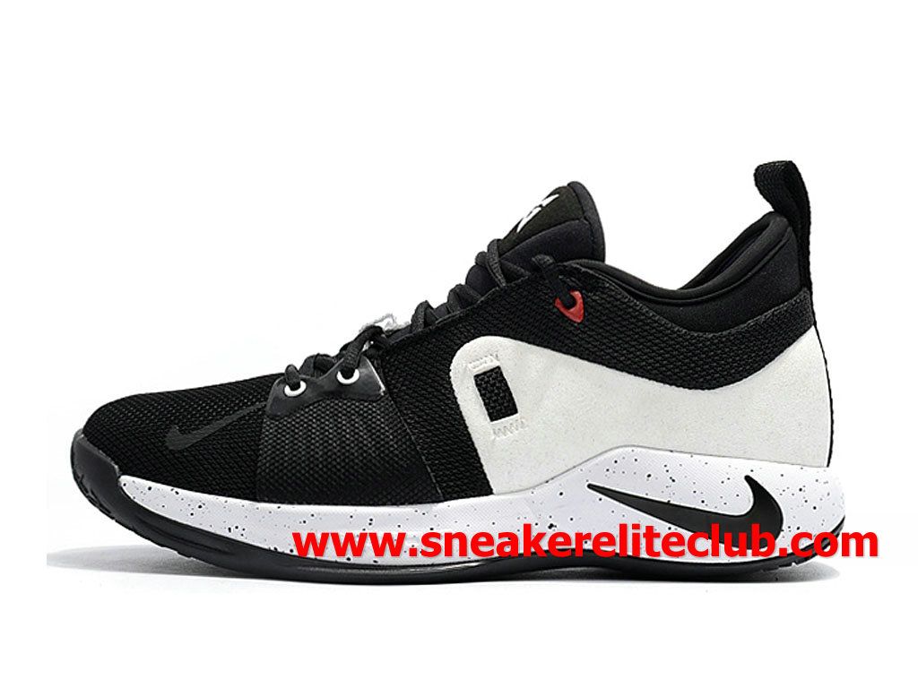 Homme Nike PG 2 Chaussures Pas Cher Prix Blanc/Noir AT7815_ID006