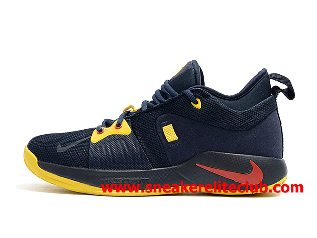 Homme Nike PG 2 Chaussures Pas Cher Prix Bleu/Jaune/Rouge AT7815_ID005