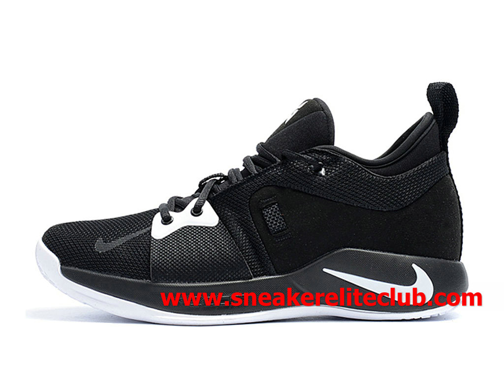 Homme Nike PG 2 Chaussures Pas Cher Prix Noir/Blanc AT7815_ID001