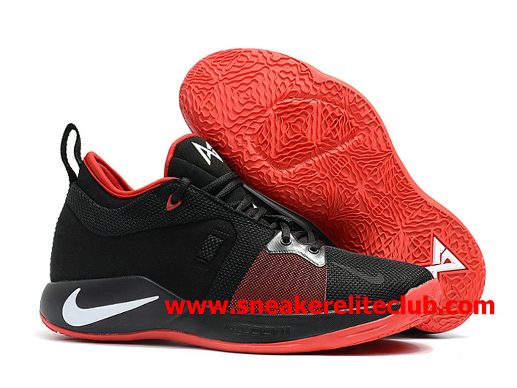 pretty nice 313ff 0feaf ... Homme Nike PG 2 Chaussures Pas Cher Prix NOir Rouge Blanc AT7815 ID002  ...