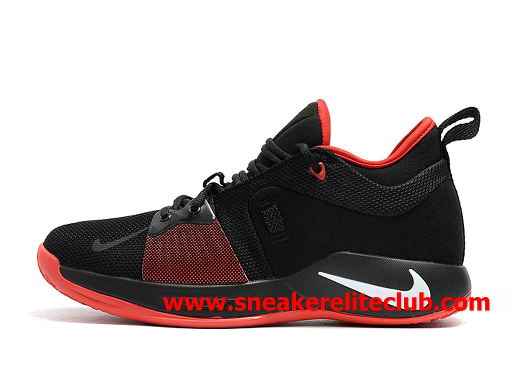 Homme Nike PG 2 Chaussures Pas Cher Prix NOir/Rouge/Blanc AT7815_ID002