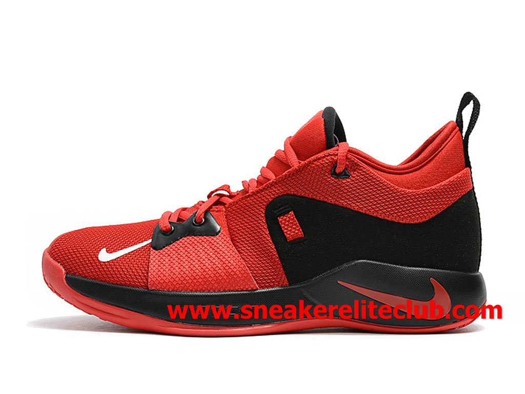 Homme Nike PG 2 Chaussures Pas Cher Prix Rouge/Noir AT7815_ID004