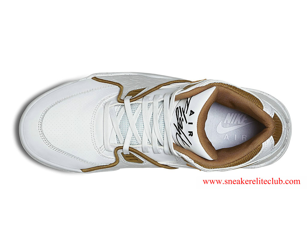 Nike Air Flight 89 Homme Pas Cher Blanc/Or 306252_115
