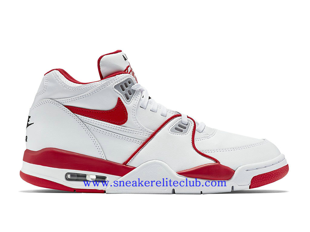 Nike Air Flight 89 LE Homme Pas Cher Blanc Rouge 819665_100