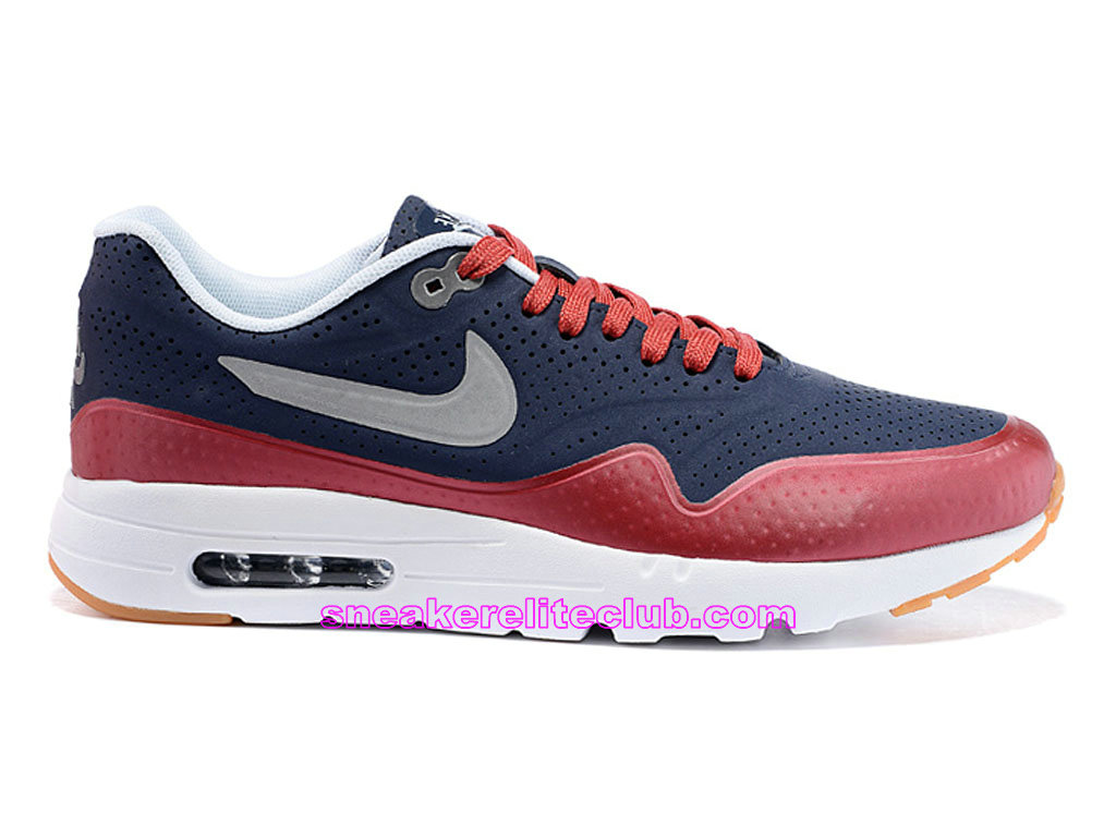 Nike Air Max 1 Ultra Moire Prix Chaussures De Running Pour Homme Bleu Rouge 724390-006