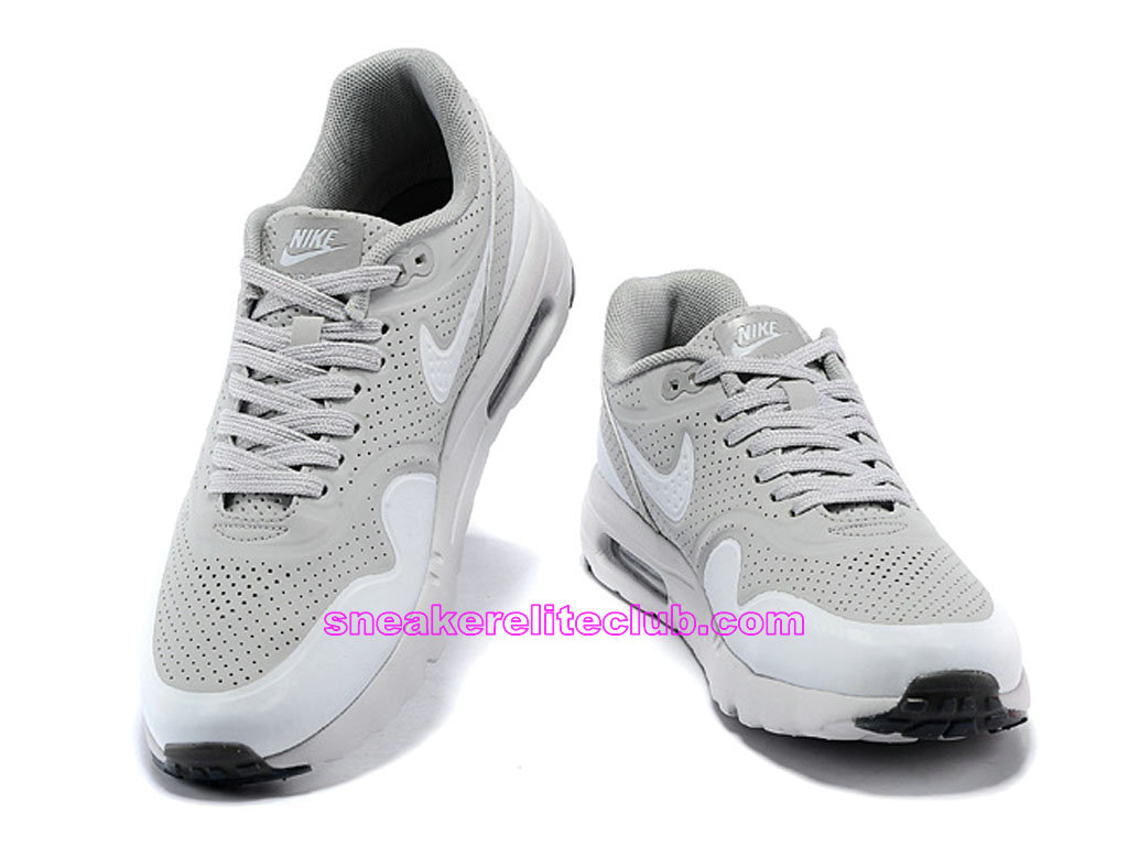 nouvelle collection 6be07 540e8 Nike Air Max 1 Ultra Moire Prix Men´s Running Shoes Grey White 724390-010
