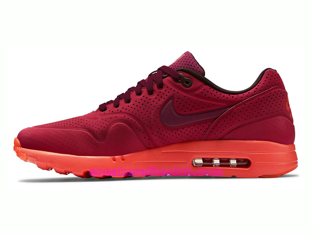 ... Nike Air Max 1 Ultra Moire Prix Chaussures De Running Pour Homme Rouge 705297-600 ...