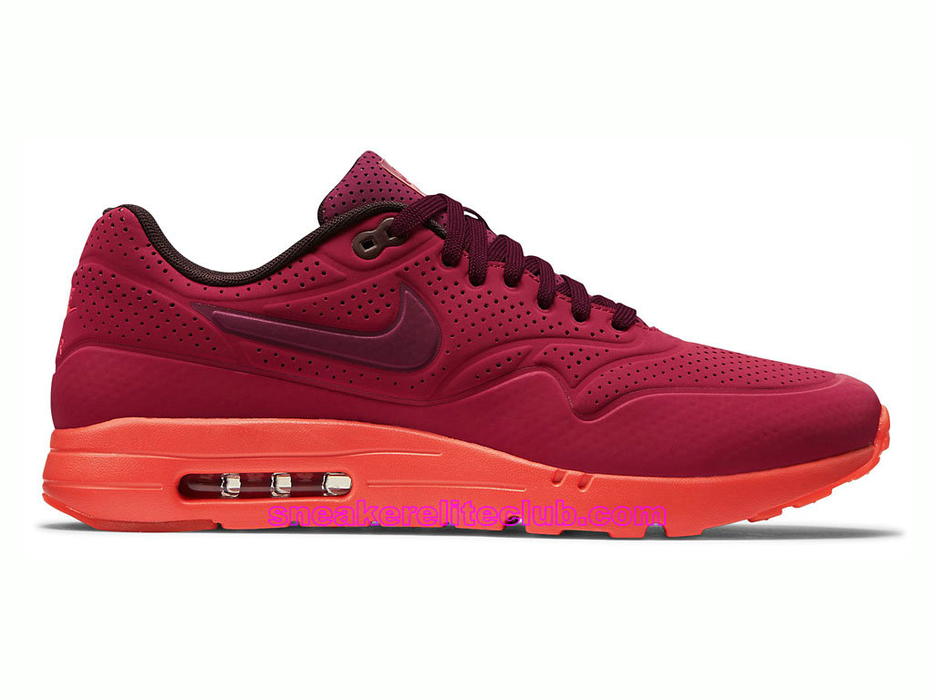 Nike Air Max 1 Ultra Moire Prix Chaussures De Running Pour Homme Rouge 705297-600