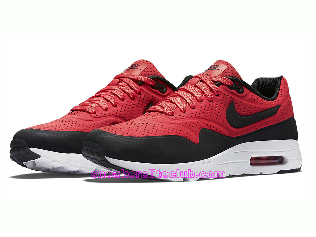 low priced 43d6c e552c ... Nike Air Max 1 Ultra Moire Prix Men´s Running Shoes Red Black 705297-  ...