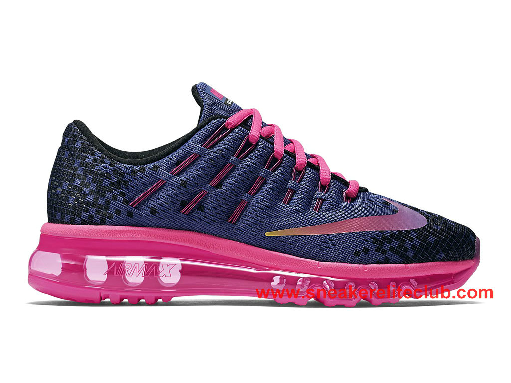 Nike Air Max 2016 Print GS Chaussure De Course Pour Femme/Fille Deep Night Fire Pink 820332_500
