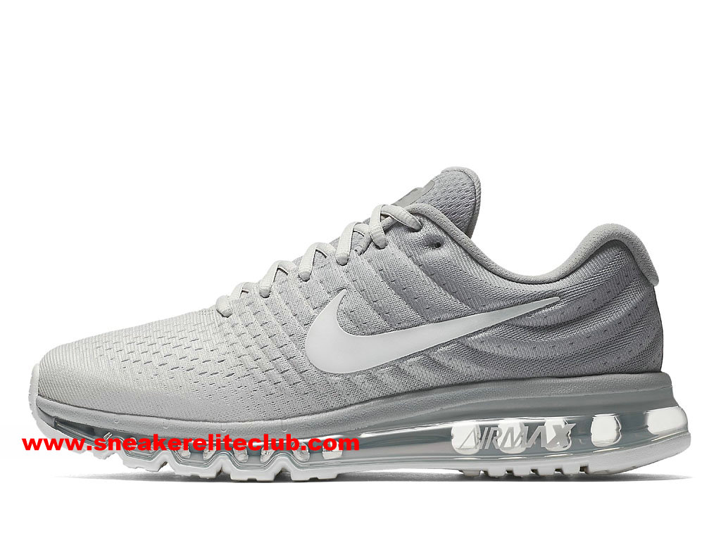 nike air max 2017 prix chaussures de running pas cher pour homme blanc gris 849559 005. Black Bedroom Furniture Sets. Home Design Ideas