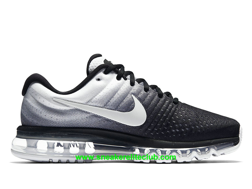 nike air max 2017 prix chaussures de running pas cher pour homme noir blanc 849559 010. Black Bedroom Furniture Sets. Home Design Ideas