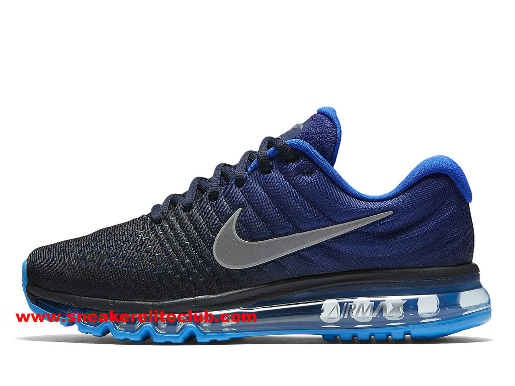 nike air max 2017 prix chaussures de running pas cher pour homme noir bleu gris 849559 400. Black Bedroom Furniture Sets. Home Design Ideas
