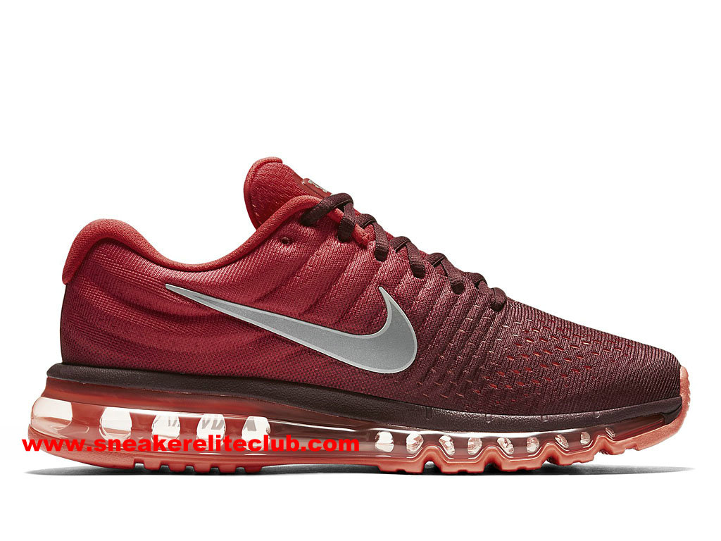 nike air max 2017 prix chaussures de running pas cher pour homme rouge gris 849559 601. Black Bedroom Furniture Sets. Home Design Ideas