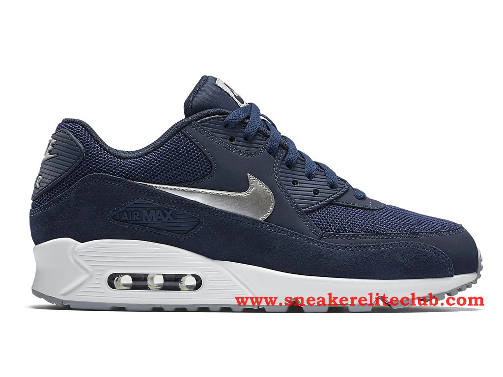 Nike Air Max 90 Essential -Chaussure Pour Homme Bleu/Argent 537384_411