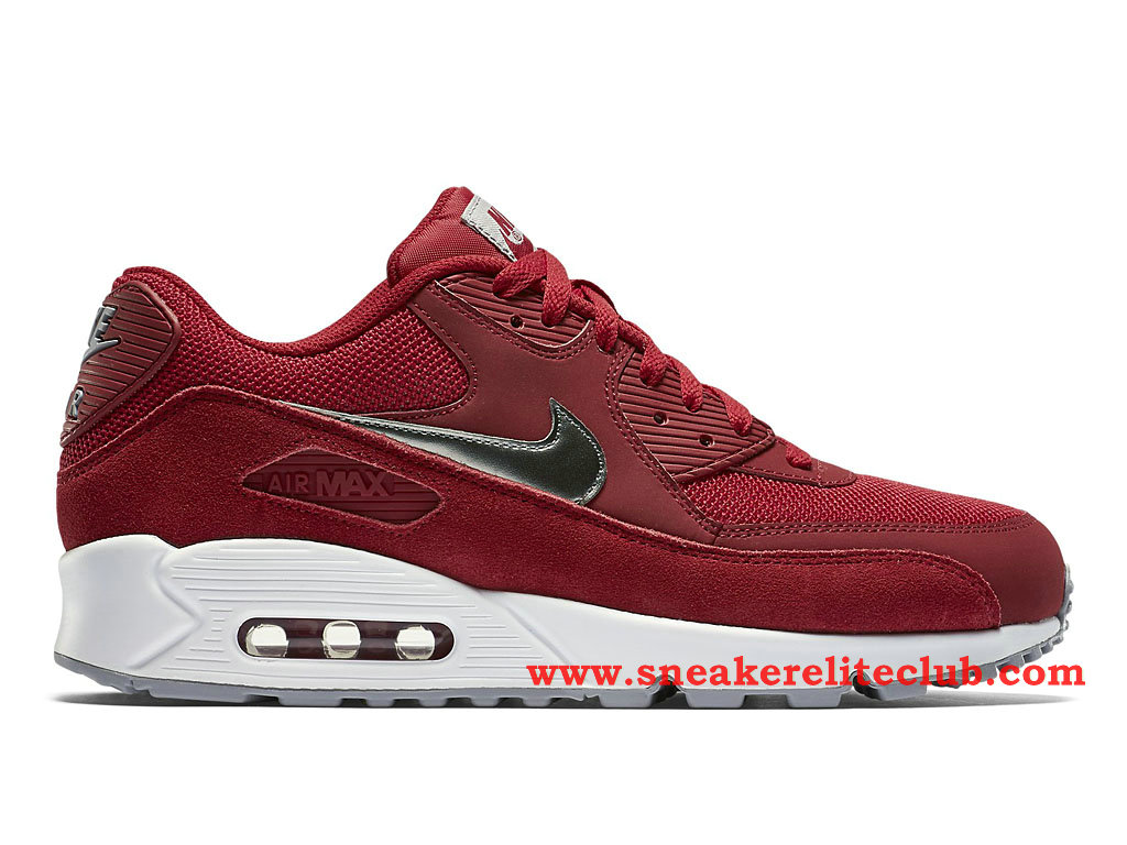 Nike Air Max 90 Essential -Chaussure Pour Homme Rouge/Argent 537384_602