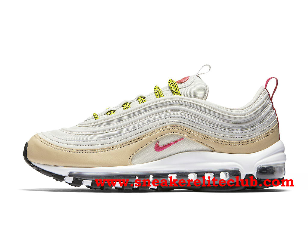 Nike Air Max 97 Chaussures De Running Pas Cher Prix Pour Homme Blanc/Rose/Or/Vert 921733_004