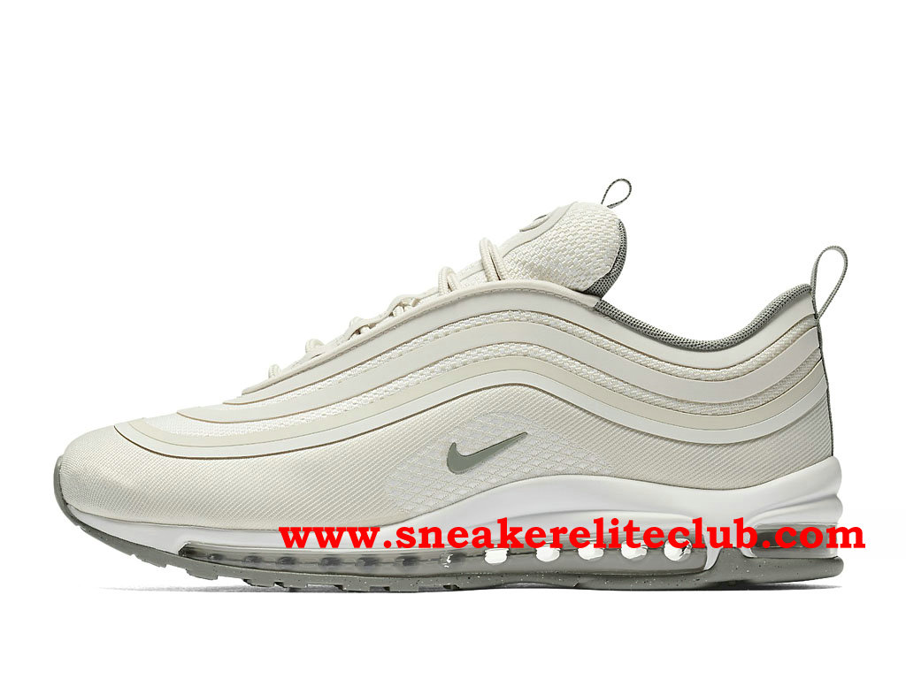 Nike Air Max 97 Ultra Chaussures De Running Pas Cher Prix Pour Homme Beige White 918356_100