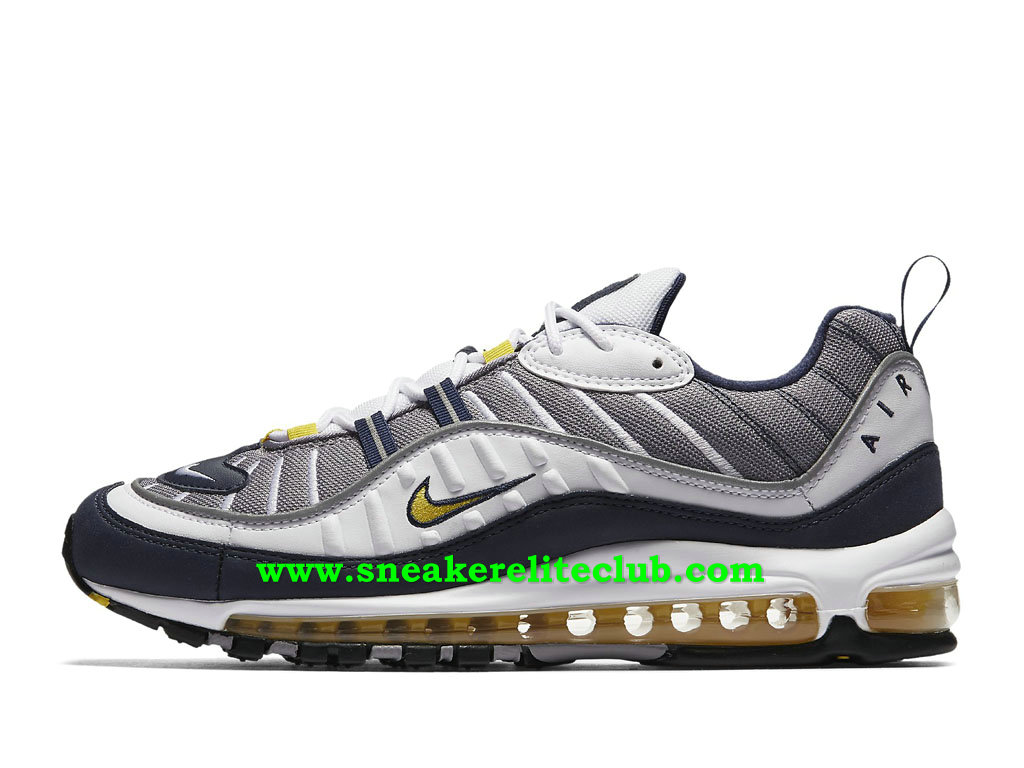 Nike Air Max 98 Chaussures Prix Pas Cher Pour Homme Tour Yellow 640744_105