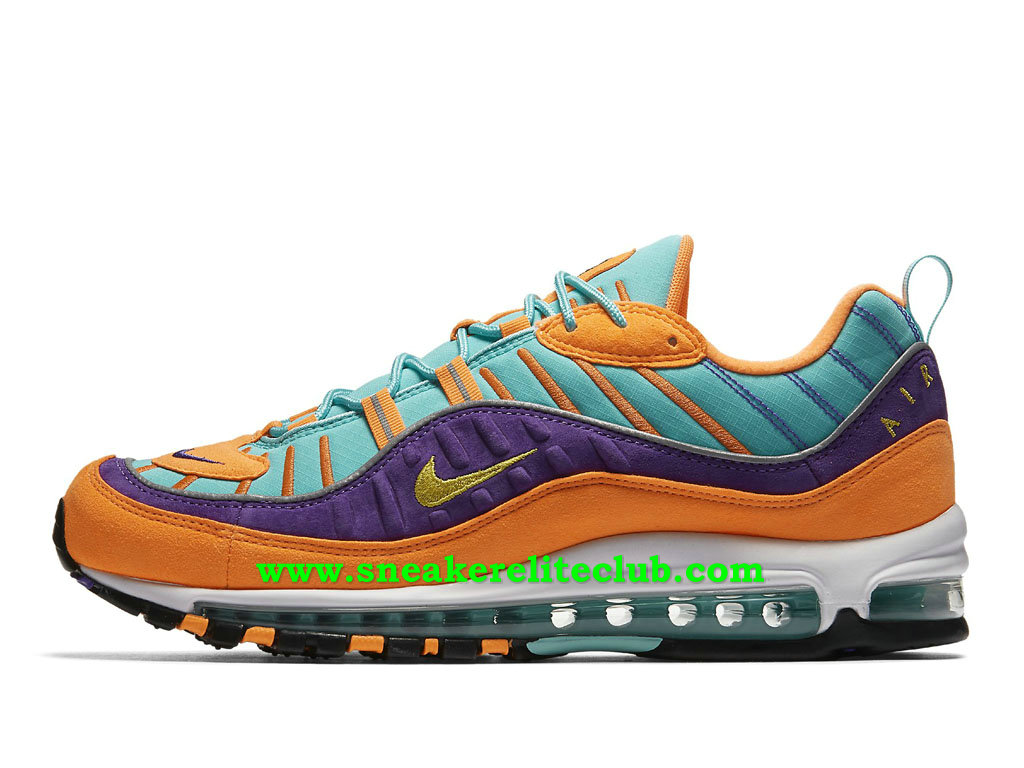 Nike Air Max 98 Chaussures Prix Pas Cher Pour Homme Yellow Grape 924462_800