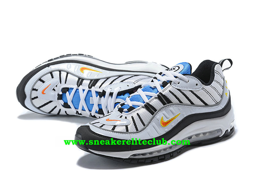 nike air max 98 id chaussures prix pas cher pour homme blanc noir bleu orange 924462 id001. Black Bedroom Furniture Sets. Home Design Ideas