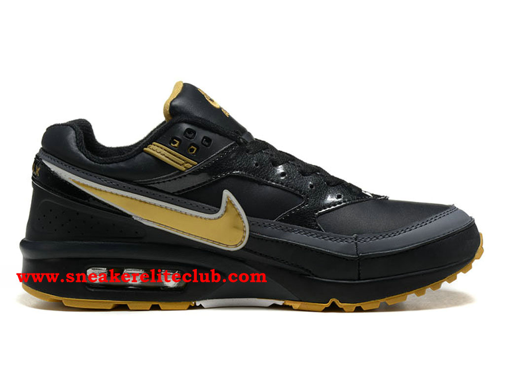Nike Air Max BW Chaussures De Running Pas Cher Prix Pour Homme NOir Or 819475_A003