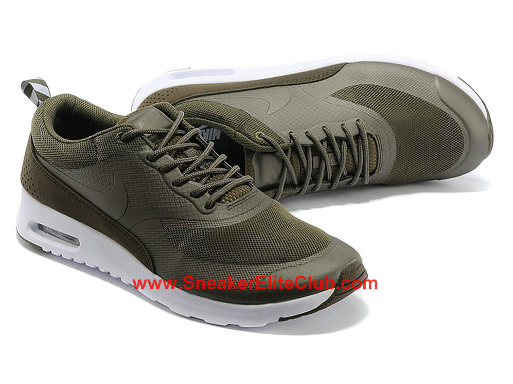 nike air max thea men s shoes olive white 599408 221. Black Bedroom Furniture Sets. Home Design Ideas