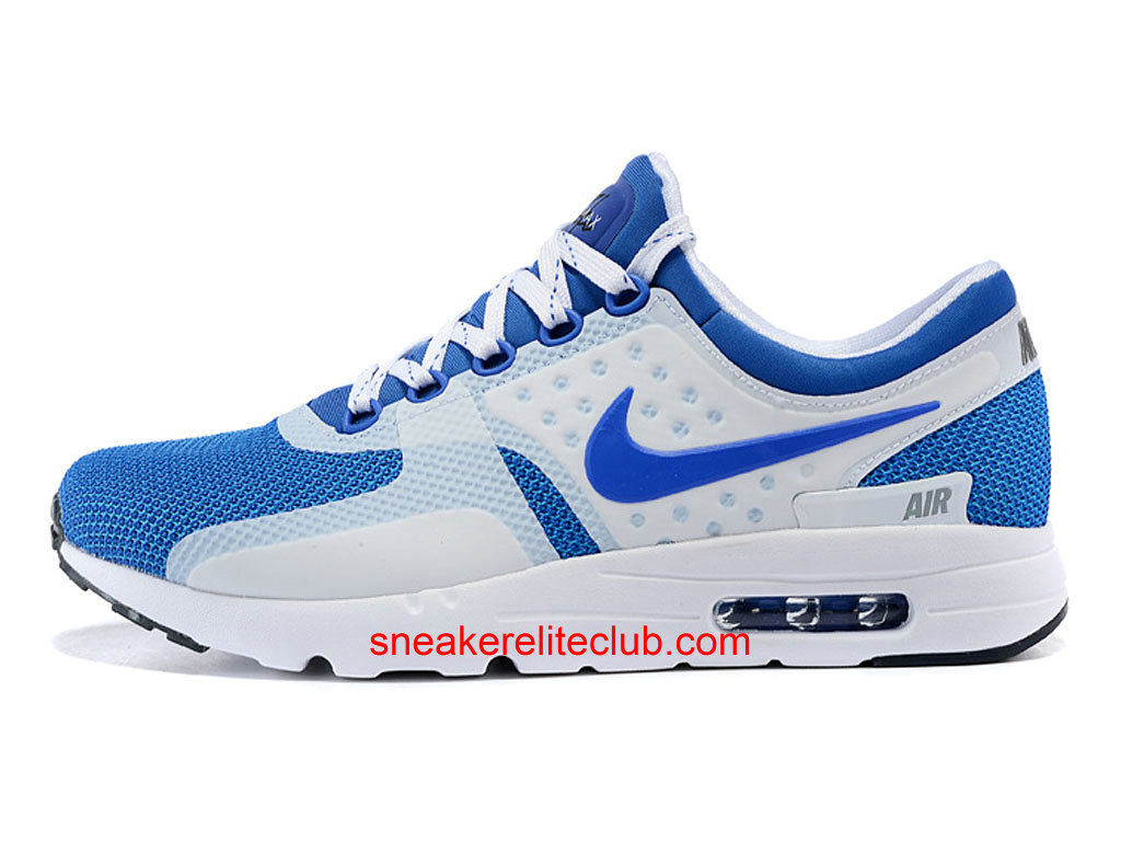 nike air max zero chaussure homme pas cher blanc bleu. Black Bedroom Furniture Sets. Home Design Ideas