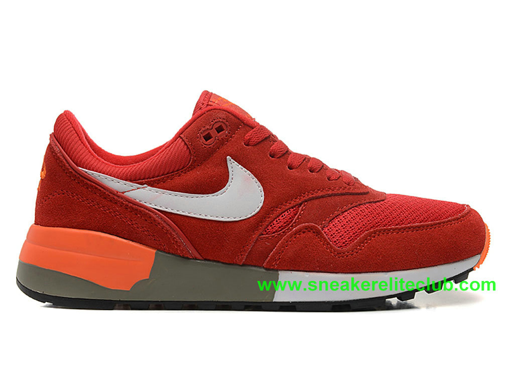 Nike Air Odyssey Chaussure De Course Pas Cher Pour Homme Rouge Blanc 652989-ID3