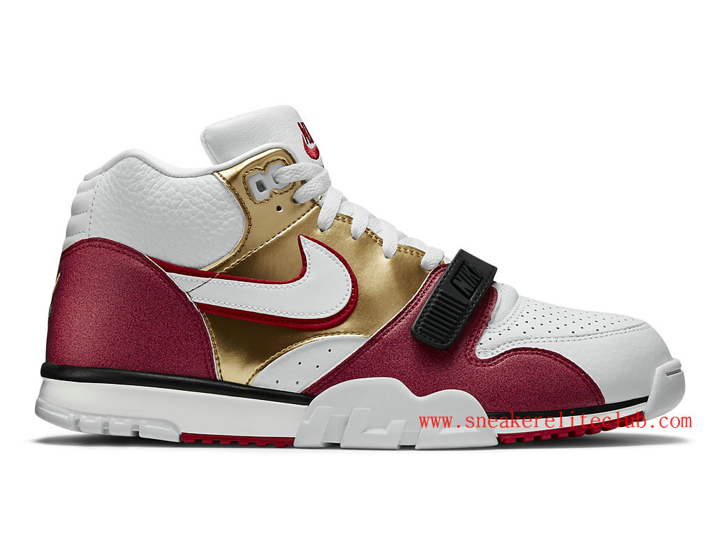 Nike Air Trainer 1 Mid Premium Jerry Rice Homme White/Red-Metallic Gold 607081-101