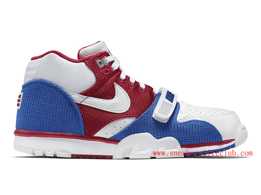 Nike Air Trainer 1 Mid Premium Puerto Rico Homme White/Gym Red-Game Royal-White 607081-102