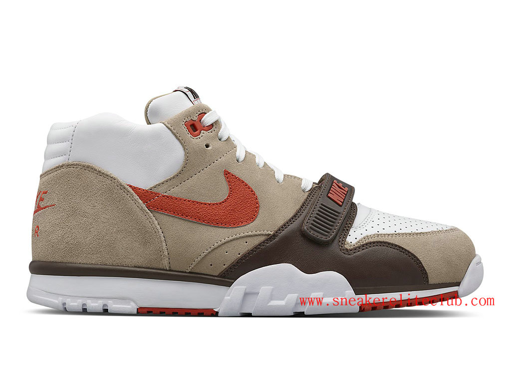 Nike Air Trainer 1 Mid SP Fragment Sculpted Clay Homme Chino/Baroque Brown-White-Rust 806942-282