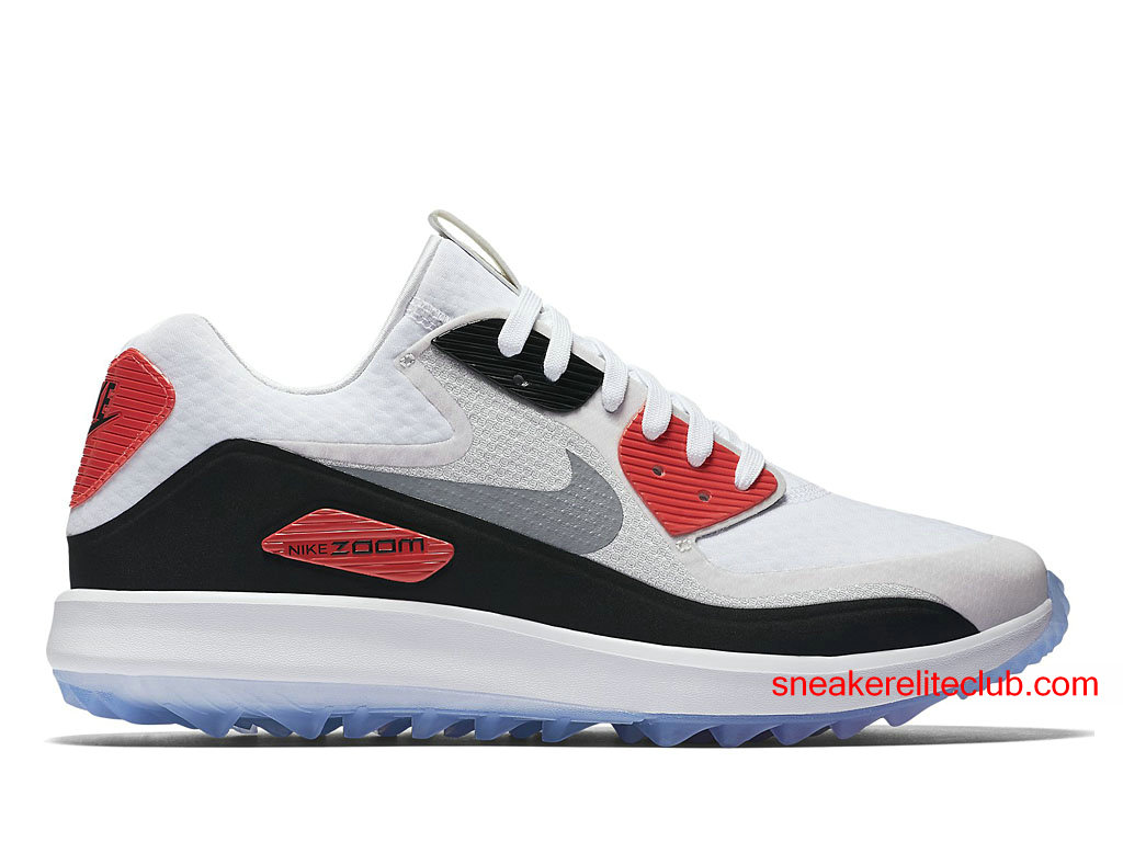 nike air zoom 90 it chaussures de golf pas cher pour homme blanc rouge noir 844569 101. Black Bedroom Furniture Sets. Home Design Ideas