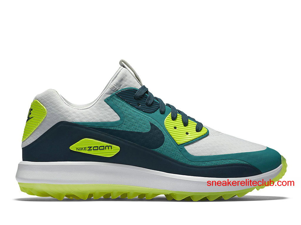 nike air zoom 90 it chaussures de golf pas cher pour homme bleu vert blanc 844569 002. Black Bedroom Furniture Sets. Home Design Ideas
