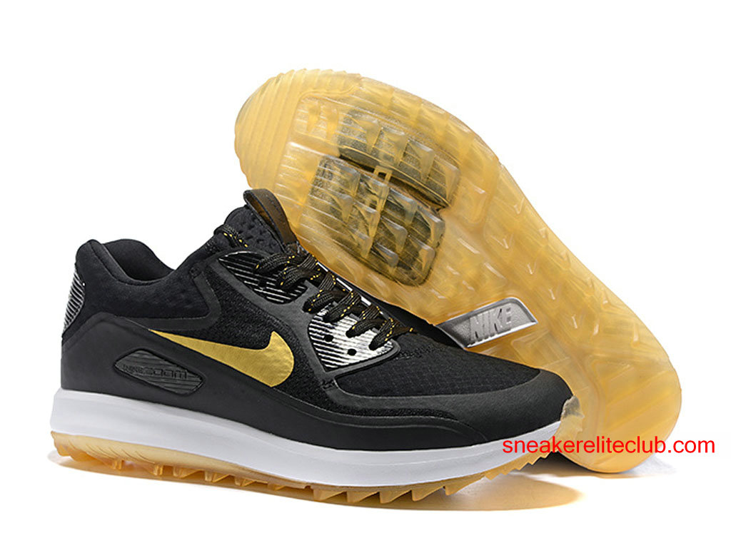 nike air zoom 90 it id chaussures de golf pas cher pour homme noir or blanc 844569 id2. Black Bedroom Furniture Sets. Home Design Ideas