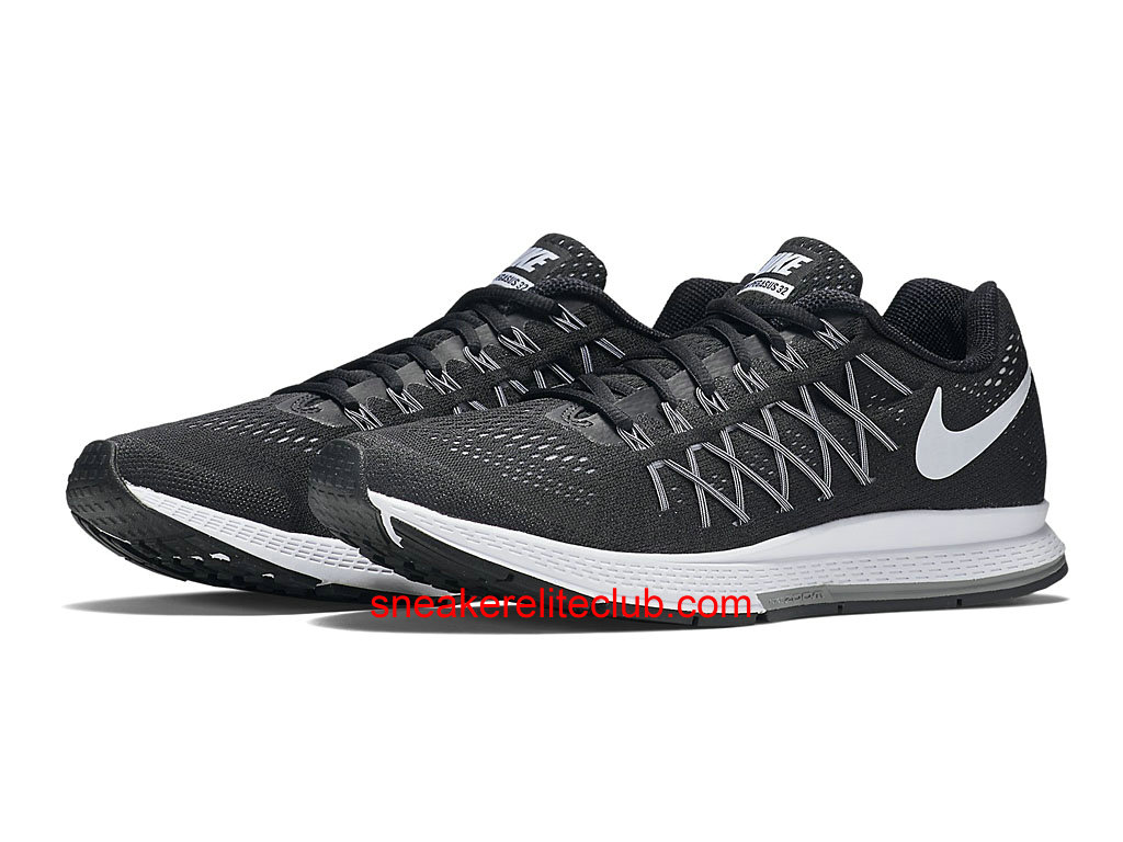 nike air zoom pegasus 32 homme running pas cher noir blanc 749340 001 chaussure nike. Black Bedroom Furniture Sets. Home Design Ideas