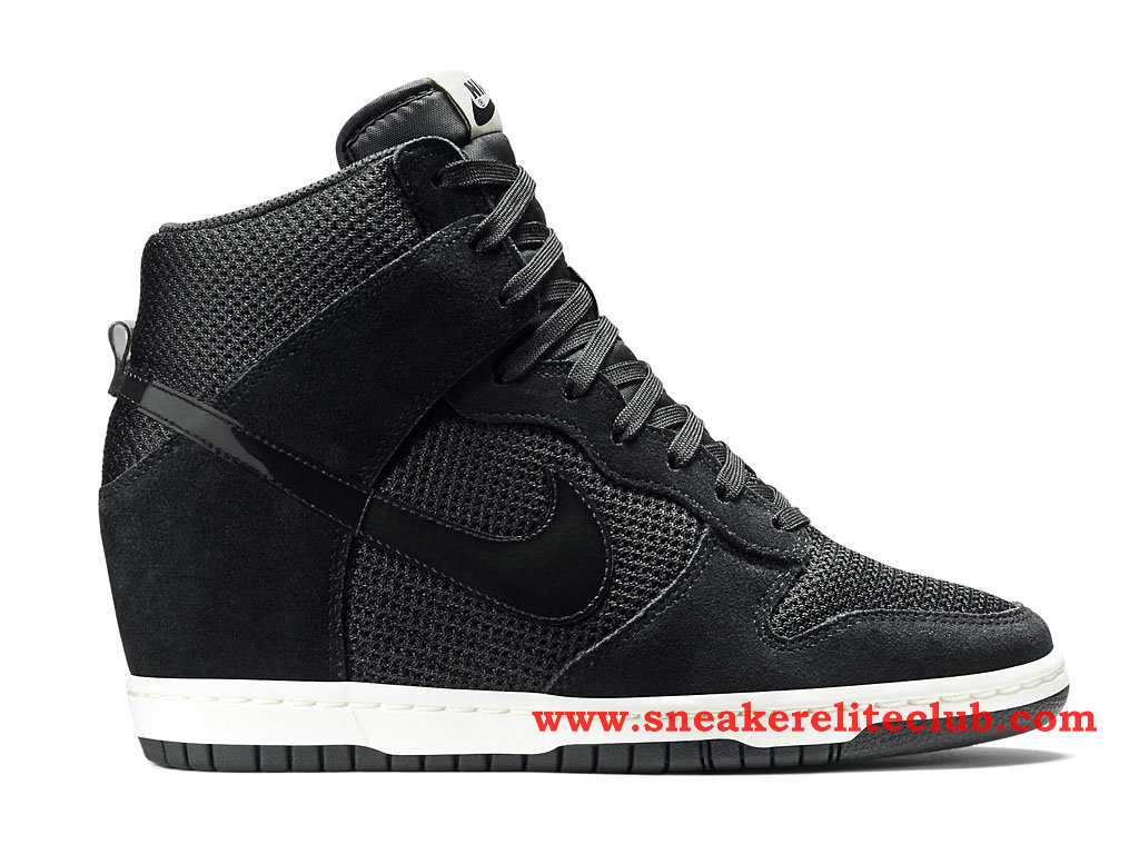 nike dunk sky hi chaussure pas cher pour femme fille noir. Black Bedroom Furniture Sets. Home Design Ideas