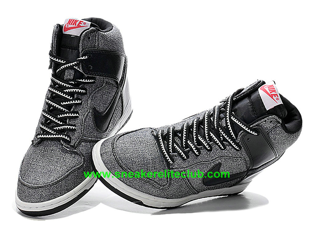 super popular 39f55 b3989 ... Nike Dunk Sky Hi TXT Women´s Shoes Black Gray ...