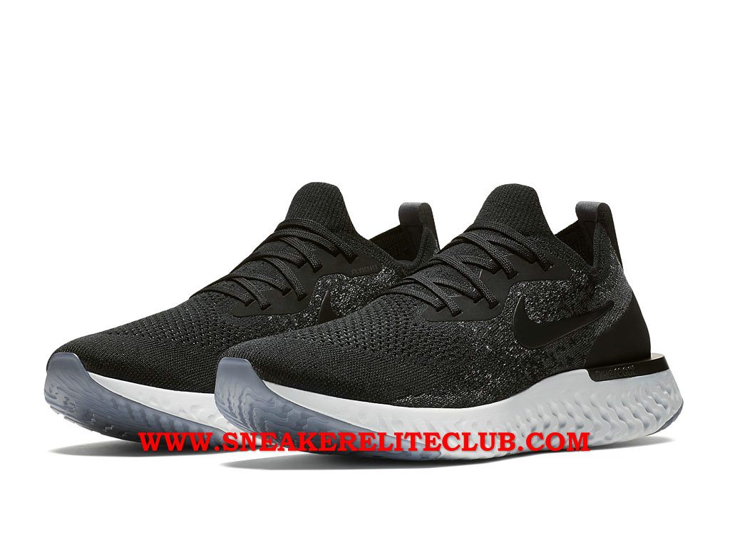 Nike Epic React Flyknit Chaussures Running Pas Cher Prix Pour Homme Noir/Blanc AQ0067_001