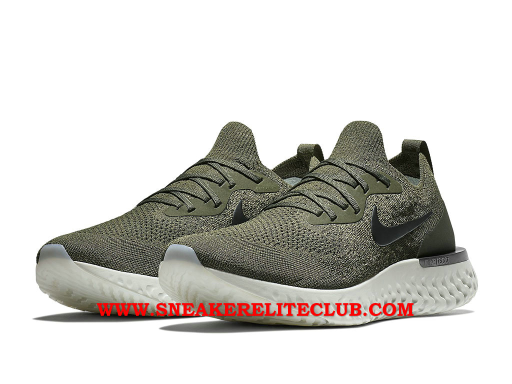 Nike Epic React Flyknit Chaussures Running Pas Cher Prix Pour Homme Olive Green AQ0067_300