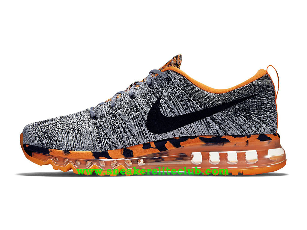 outlet store e8f09 f921a ... Nike Flyknit Air Max Men´s Running Shoes Wolf Grey Total Orange Black  ...